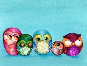 fabric owl print